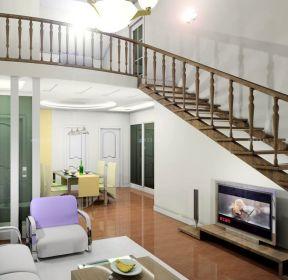 70平米带阁楼装修木楼梯装修设计图-每日推荐
