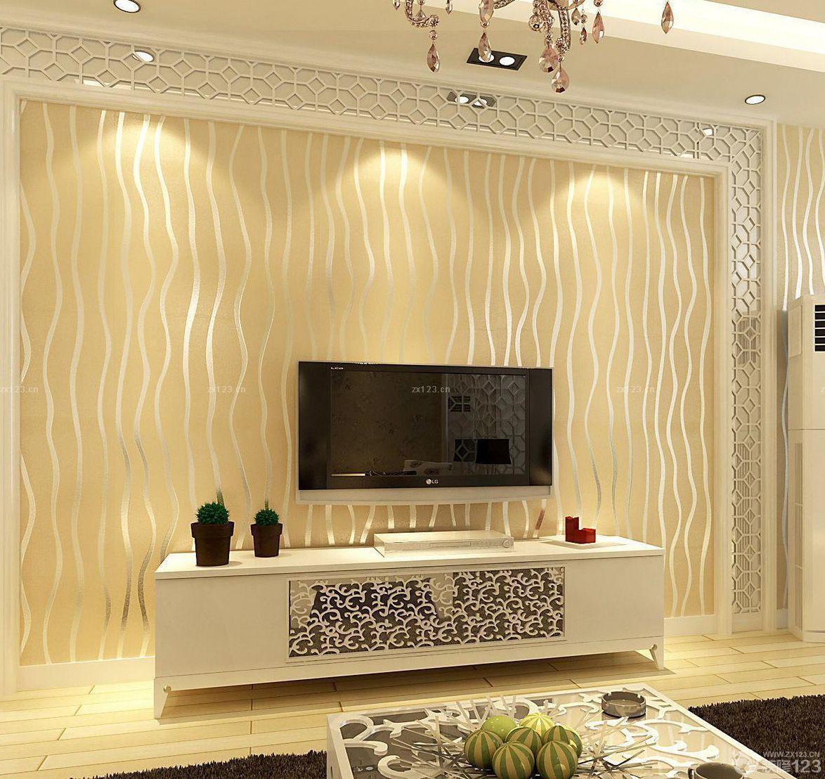 电视墙壁纸设计图简欧 设计本装修效果图