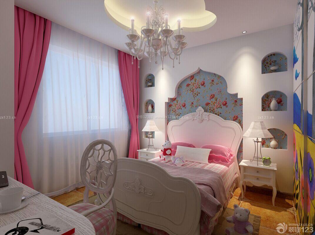 70-80平米房屋女孩温馨卧室装修设计图