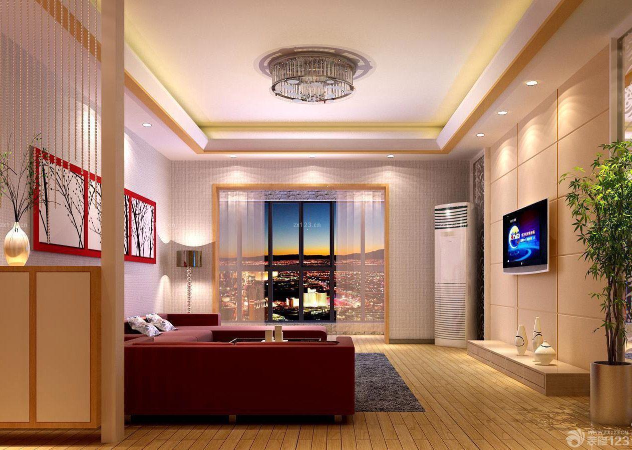 70-80平米房屋客厅原木地板装修设计图