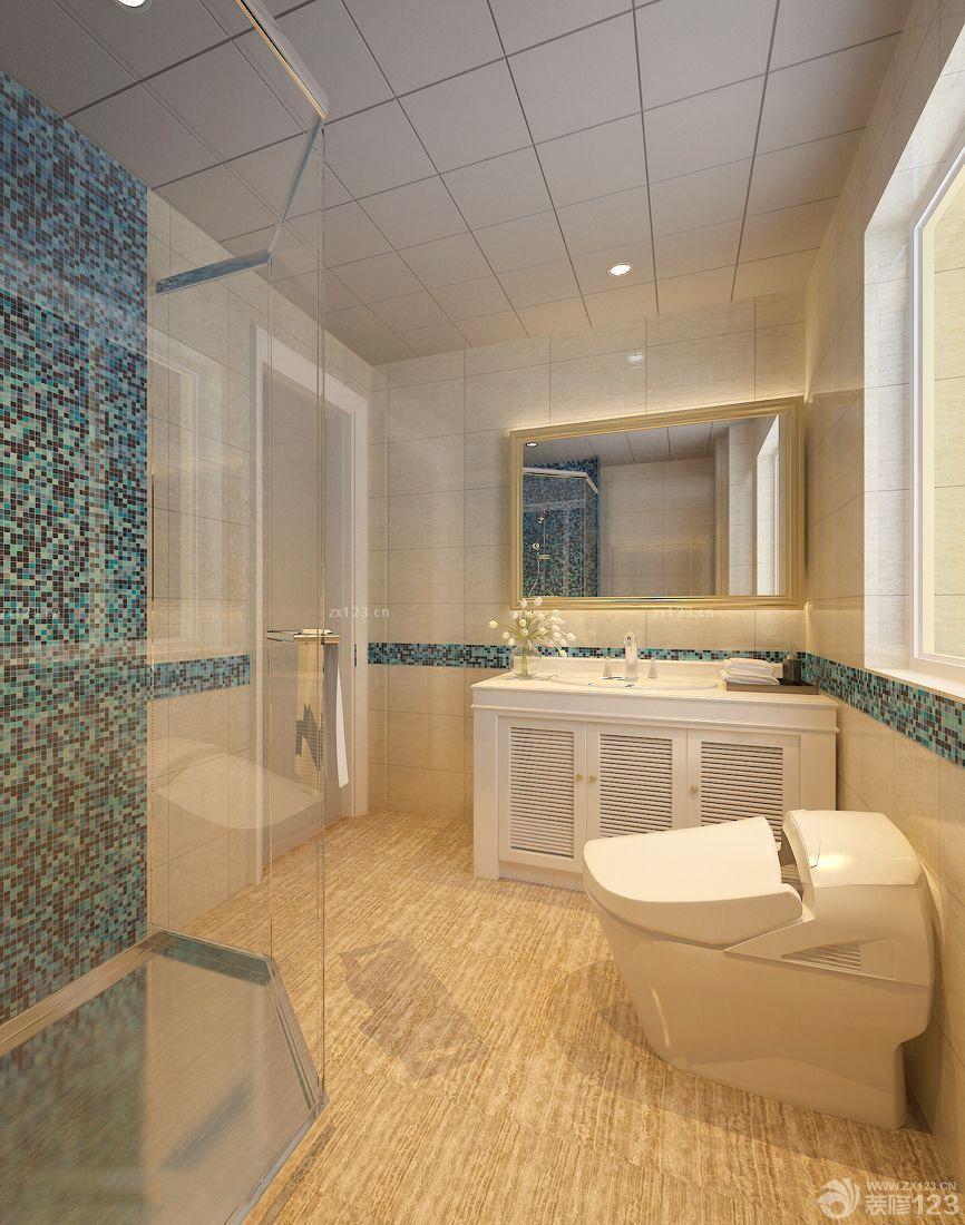时尚现代大卫生间铝扣天花板设计效果图