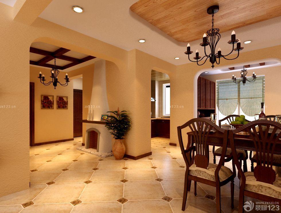 美式风格80-90平米房屋设计图_装修123效果图图片