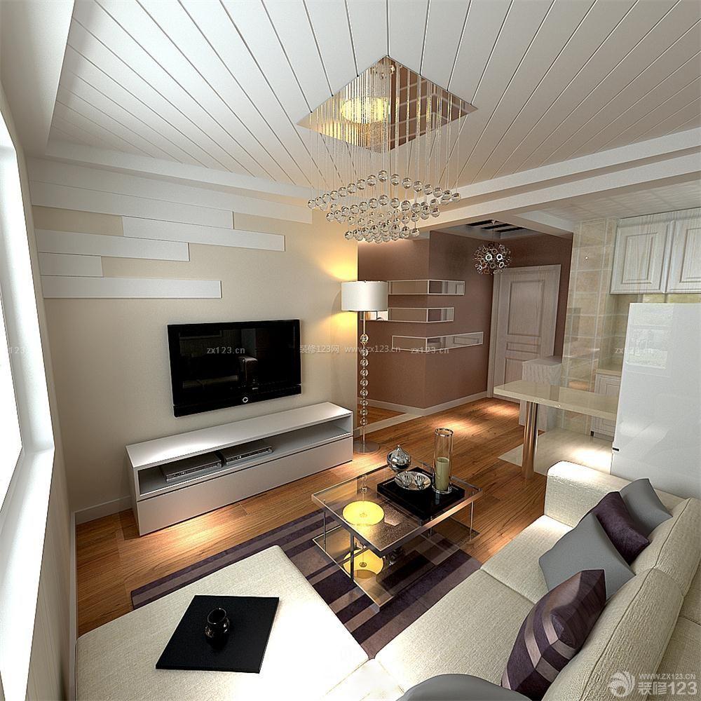 精致60平米两室一厅小户型白色地砖装修实景图