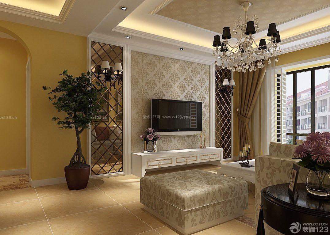 欧式田园风格70-80平米房屋装修设计图