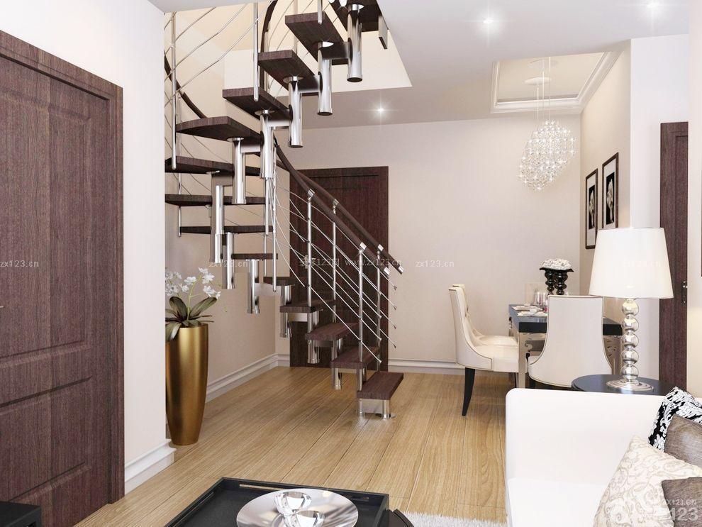 精美60平米小复式旋转楼梯设计