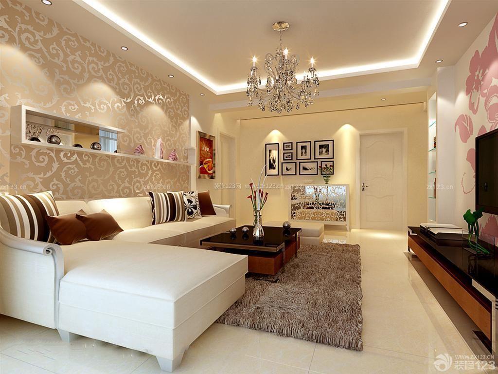 雅致欧式楼房120平米房子客厅装修图