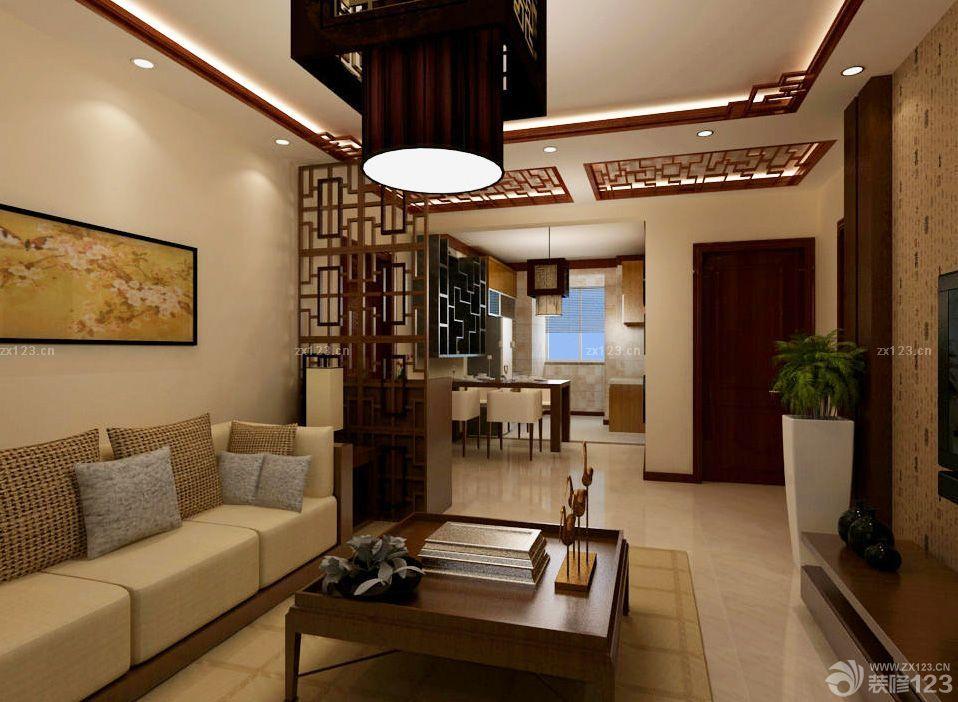 中式風格三室一廳110平米家裝圖片_裝修123效果圖
