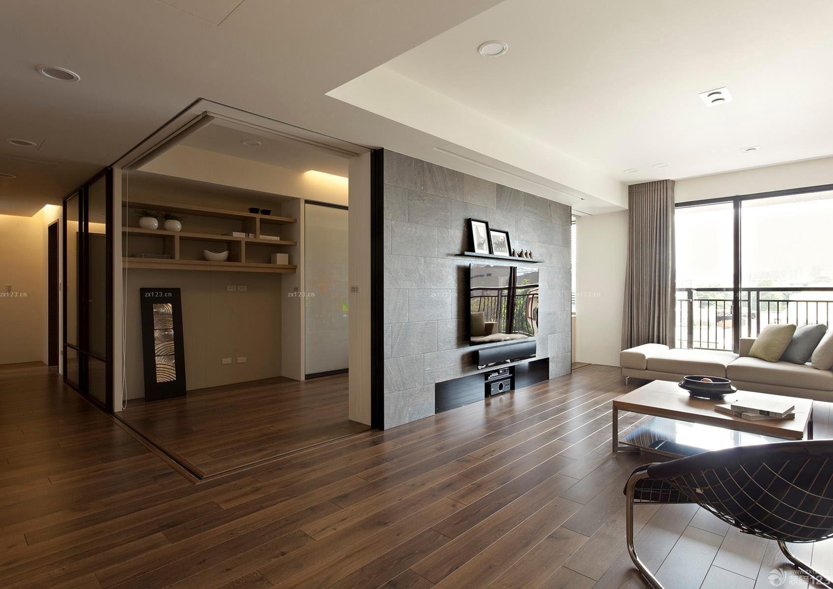现代简约风格130平米的房子装修实景图片