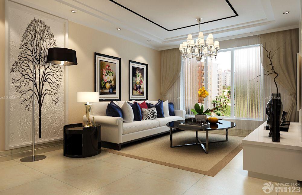 现代客厅浮雕背景墙设计图