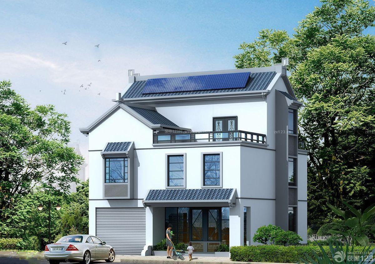 最新现代仿古120平米农村别墅设计图