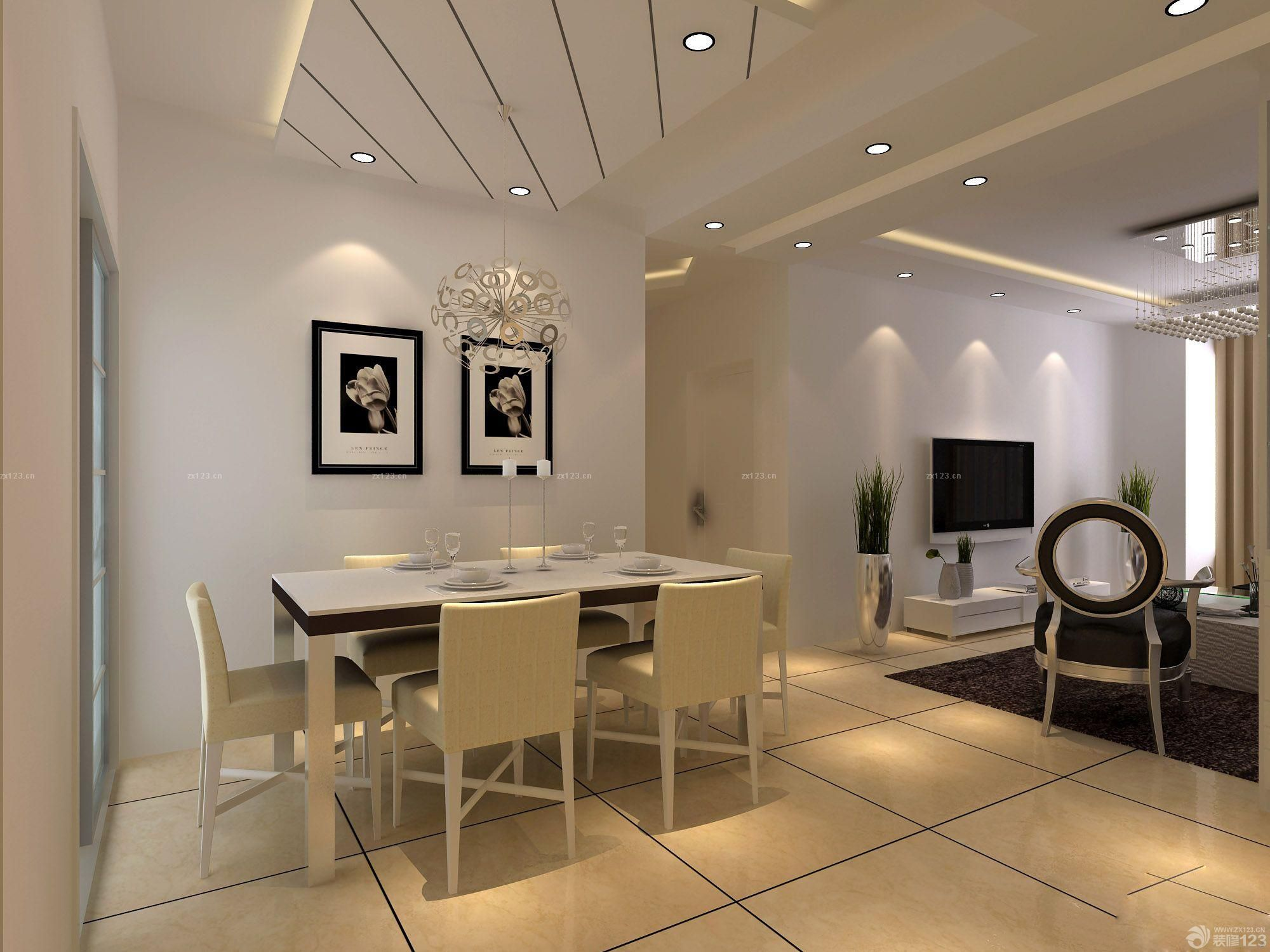 最新简欧风格130平米三室两厅装修实景图