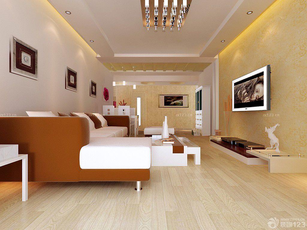 2015混搭时尚120平米房子大客厅装修设计图
