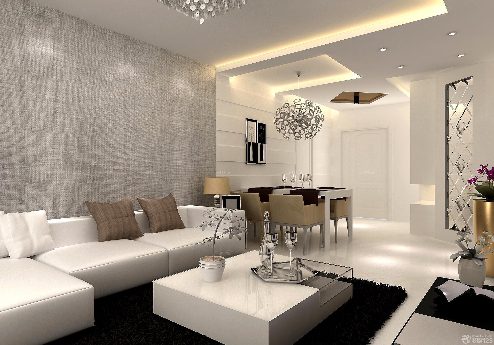 简欧风格100平米三房两厅装修图片_装修123效果图