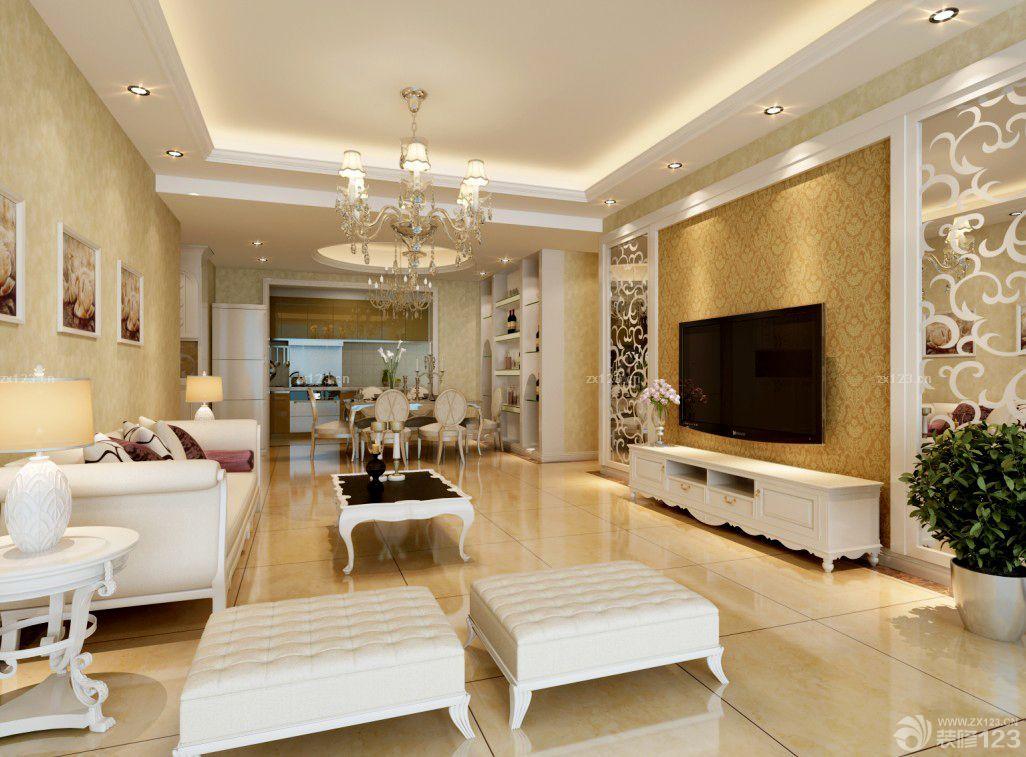 2015最新欧美风格120平方米房子装修效果图