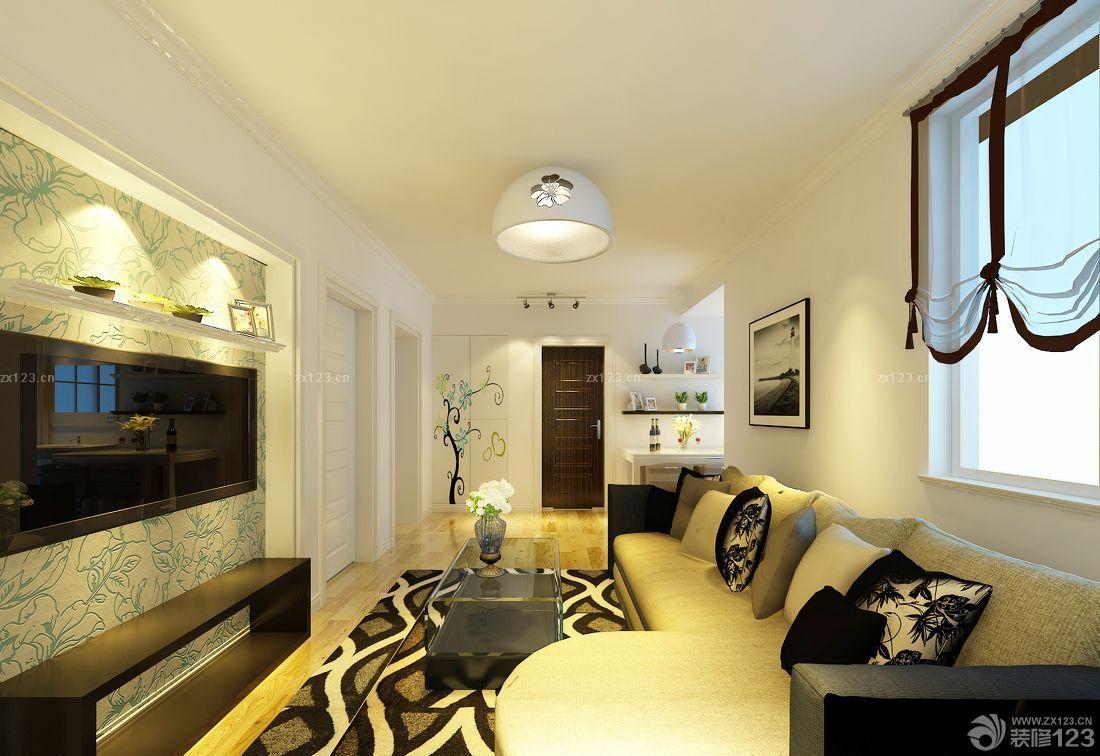 新中式风格80小三房家具装修效果图图片