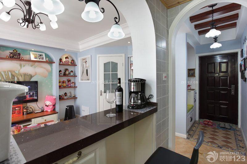 70多平米楼房客厅吧台装修效果图片