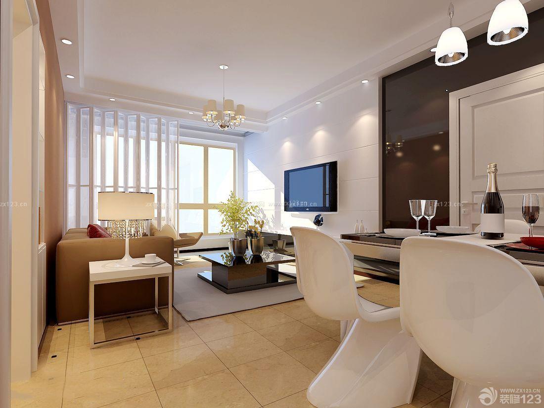 最新现代北欧120平米房子客厅装修设计图_装修123效果