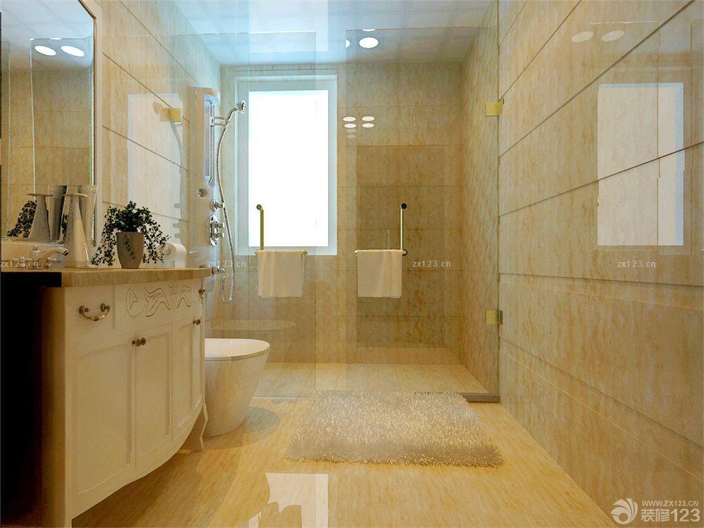 新房卫生间大理石墙面装修效果图片