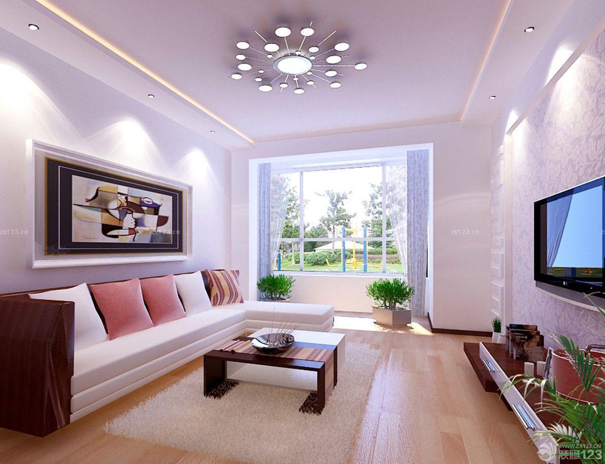 70平米两室一厅现代风格客厅颜色搭配装修效果图