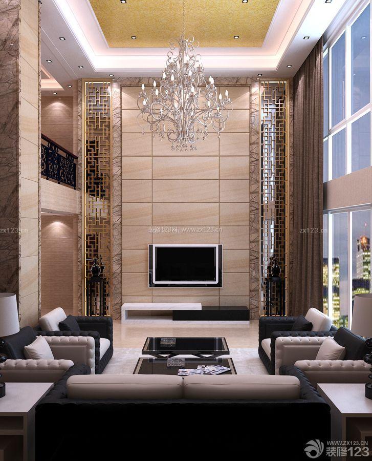 简欧风格100平方二层别墅吊顶设计图_装修123效果图图片