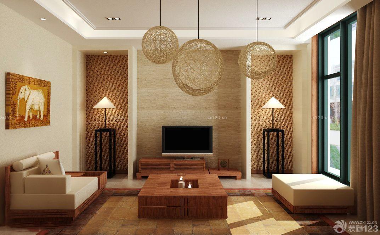 简欧式120平米客厅装修效果图大全2014图片