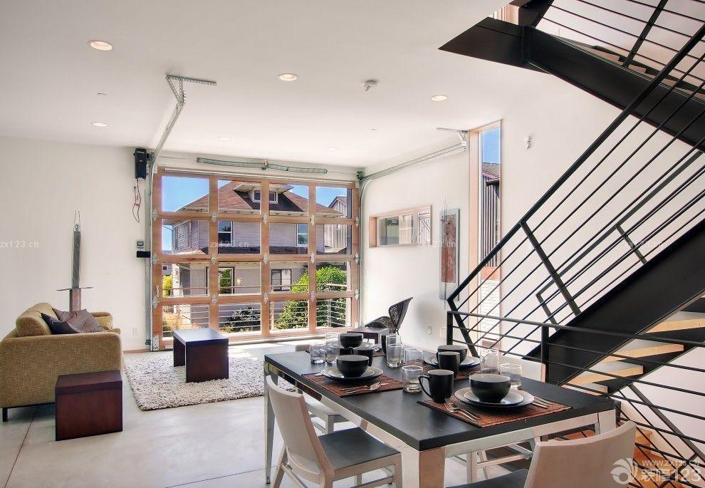 80平小复式不锈钢楼梯扶手效果图_装修123效果图图片