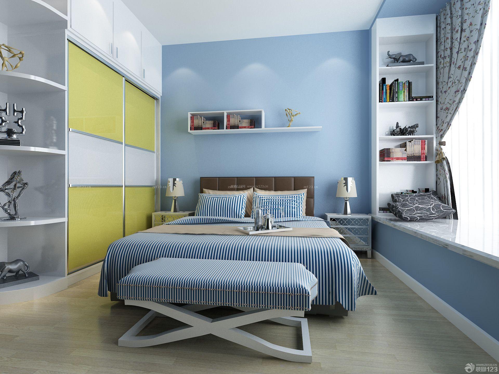 简约风格80平米2房2厅小户型卧室装修效果图