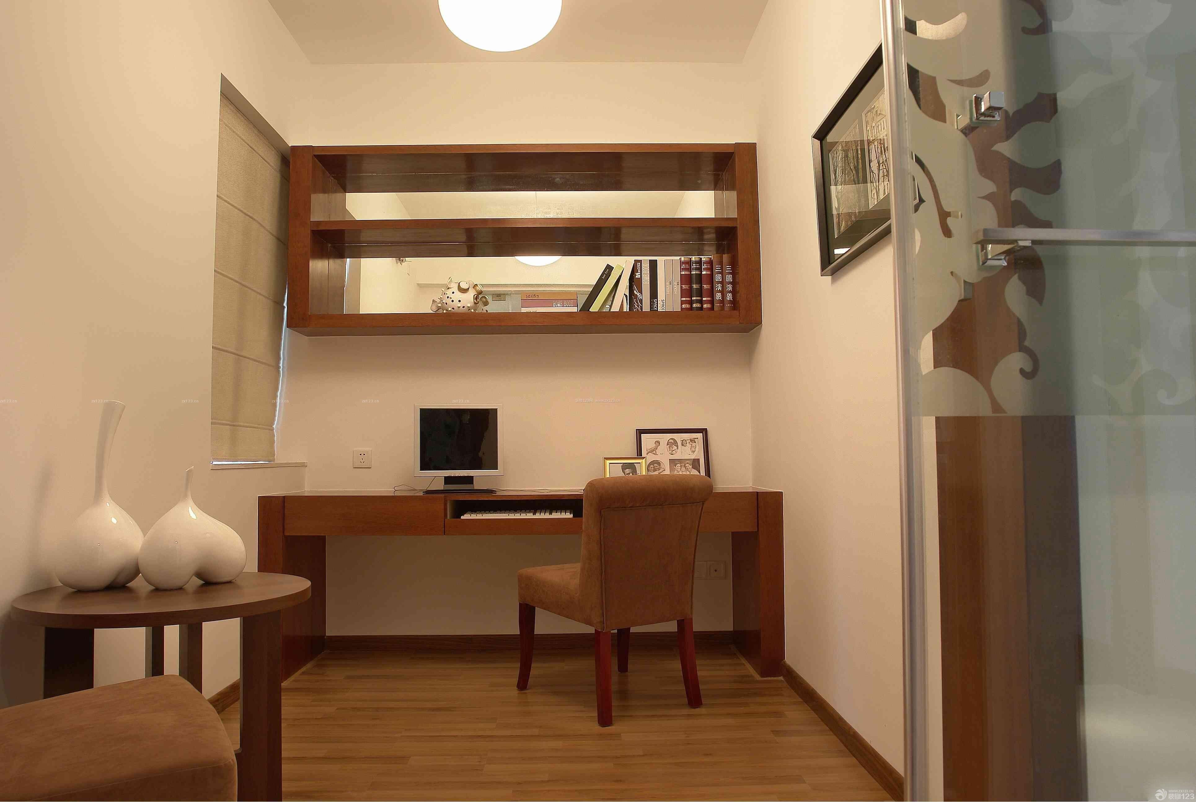 80平米2房2厅小户型书房隔断设计效果图_装修123效果图