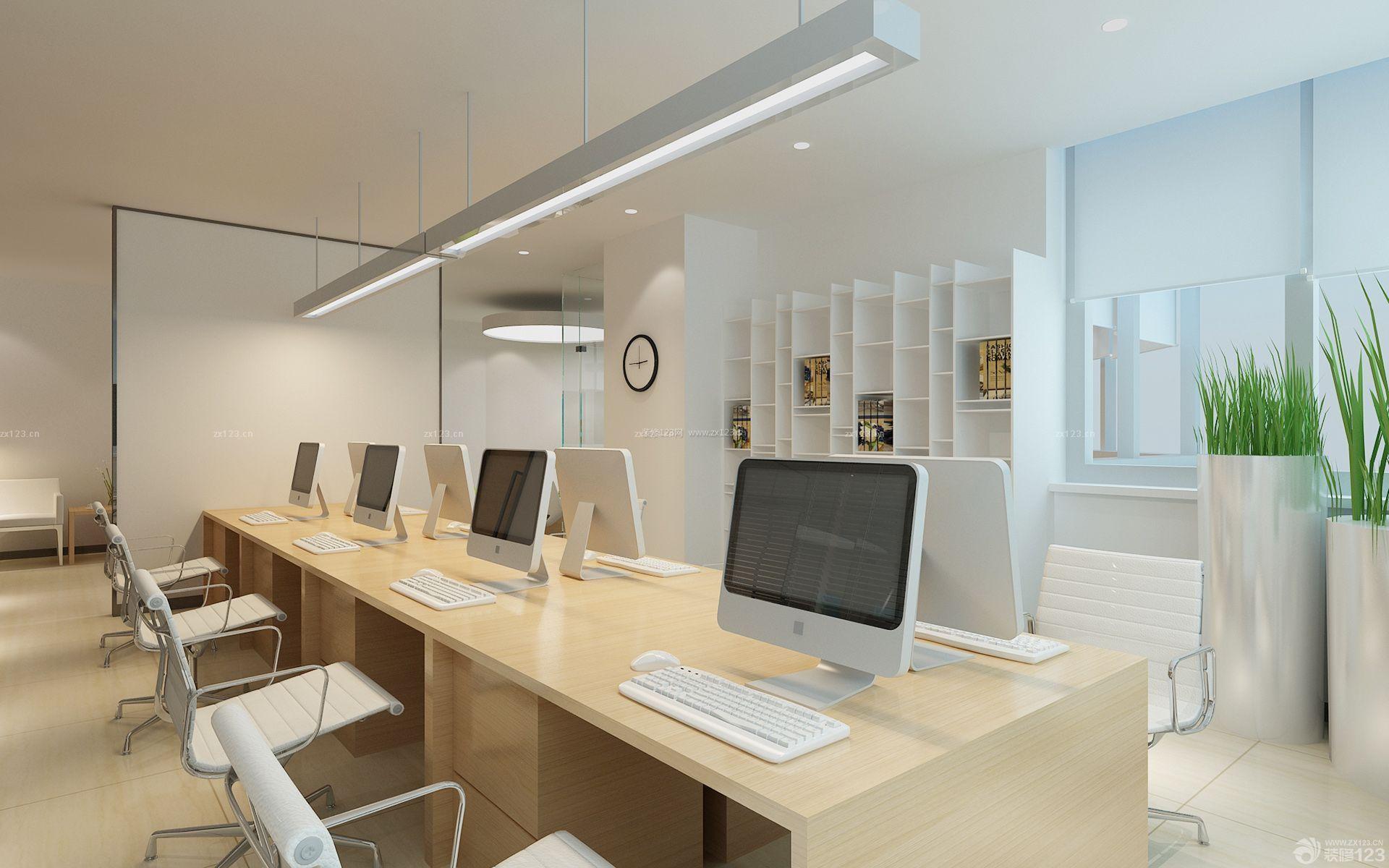 小户型80平米办公室内创意型装修设计效果图