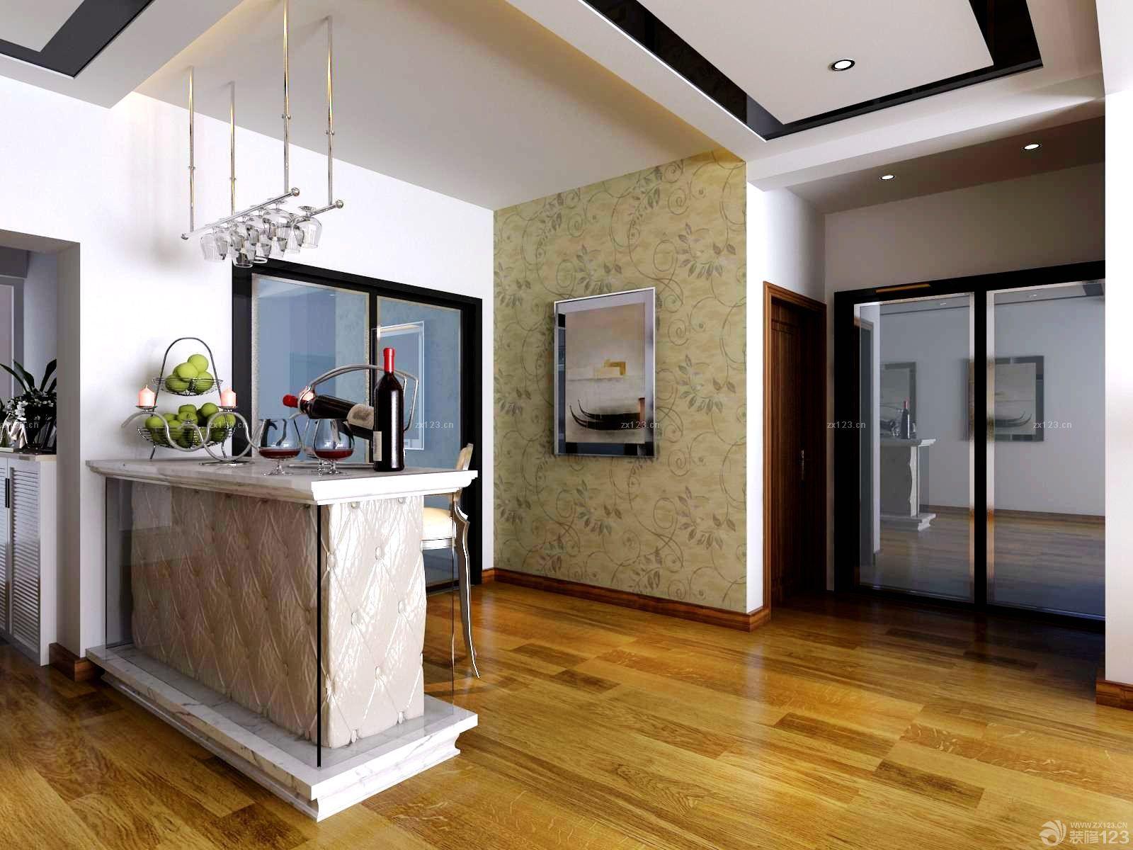 客厅天花板石膏板吊顶设计图片