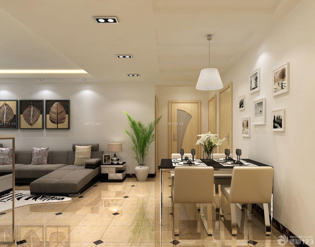 后现代风格90平米三室一厅室内装修效果图