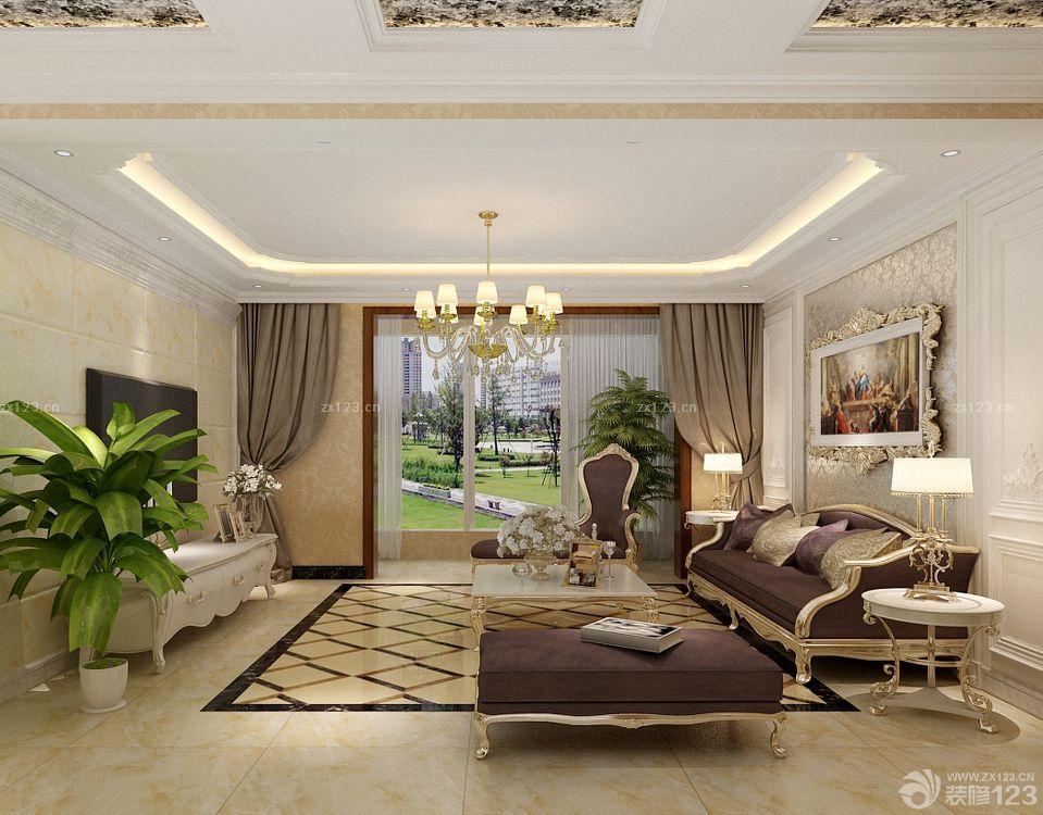 90平米欧式房屋白色门装修效果图
