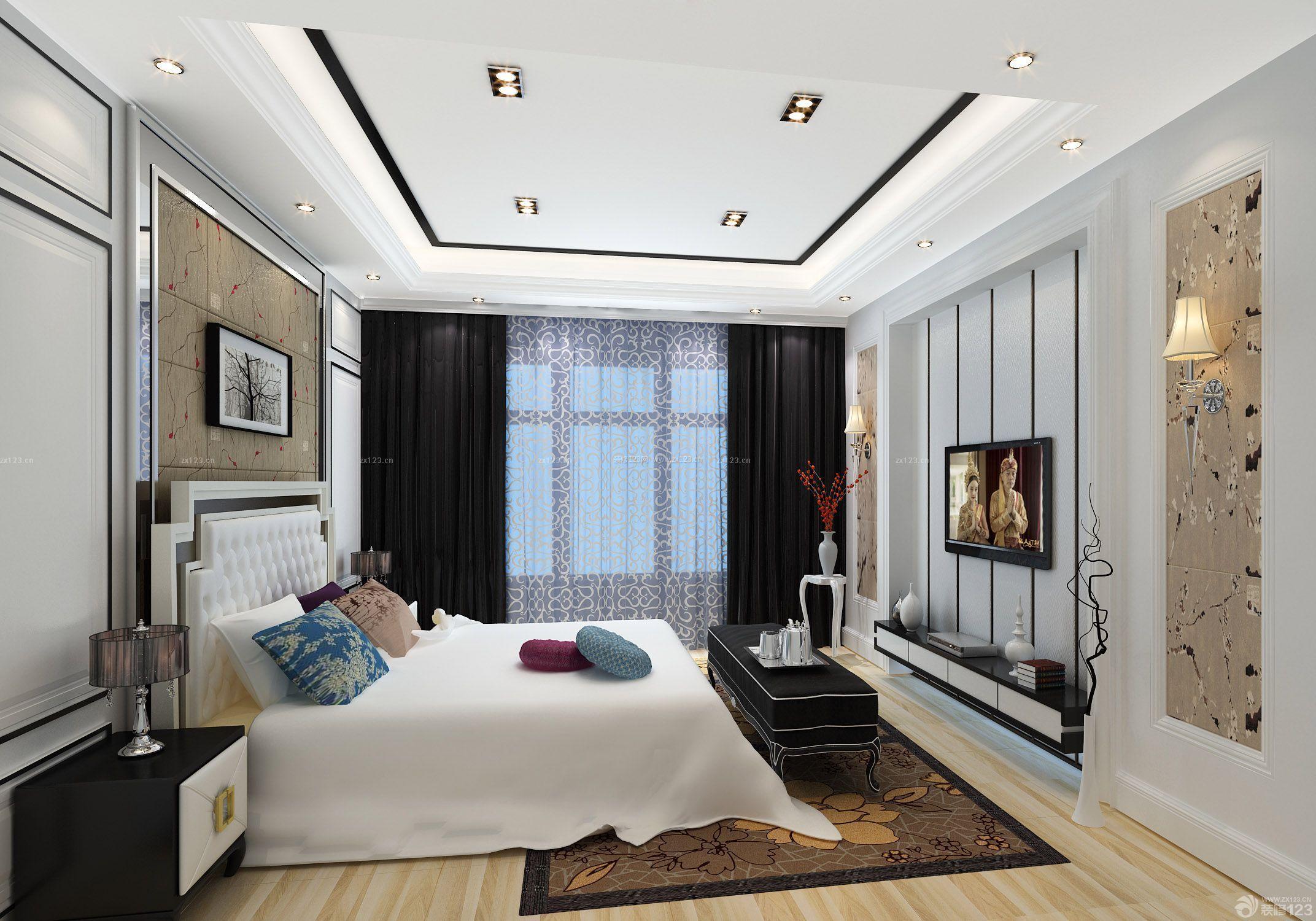 惬意小美式120平方三室一厅装修图_装修123效果图