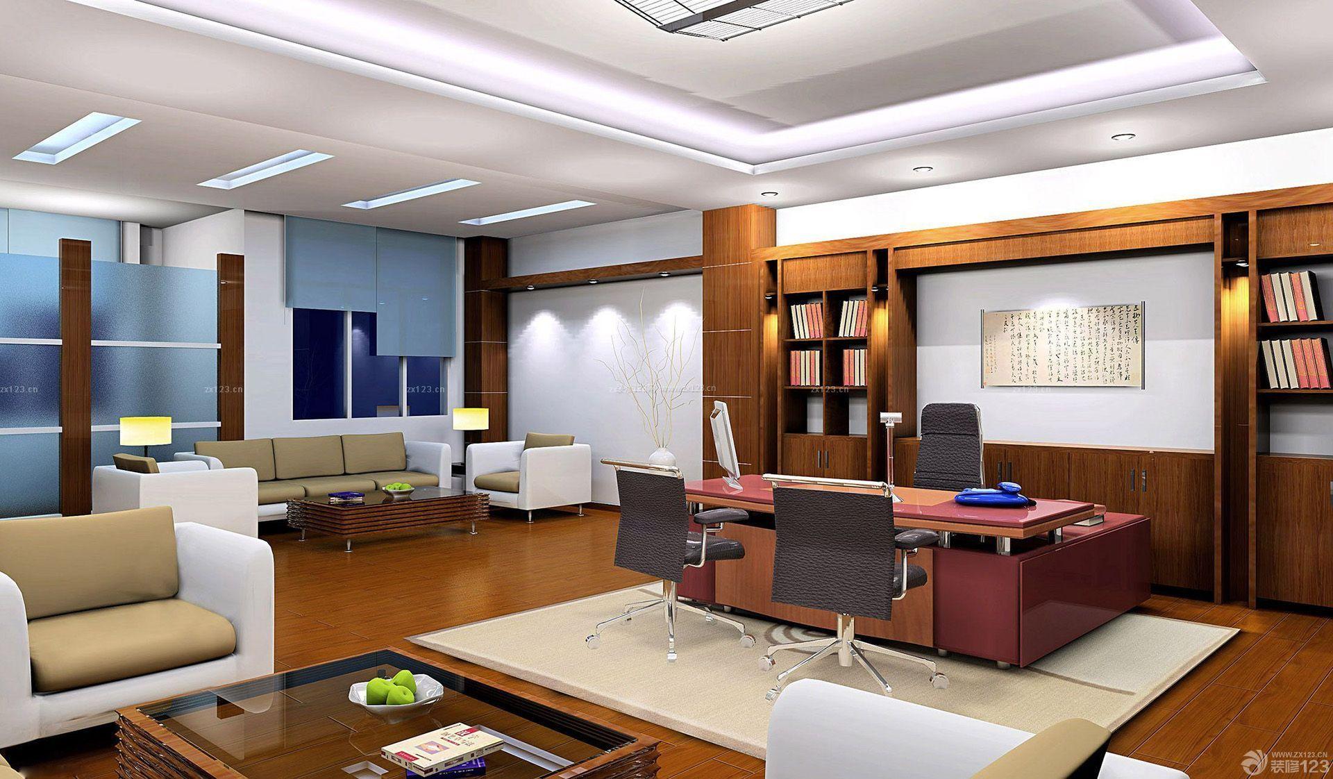 80平米总经理办公室装修设计效果图