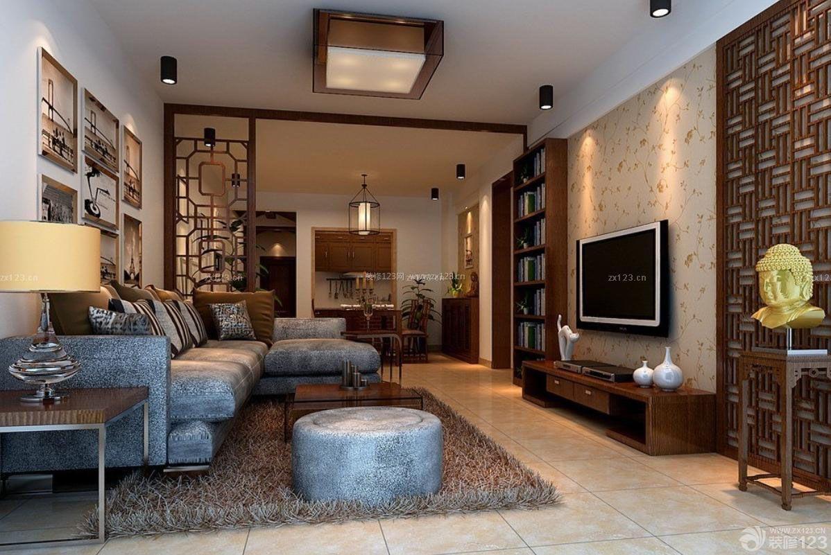 2015新中式风格房屋装修图片大全130平米