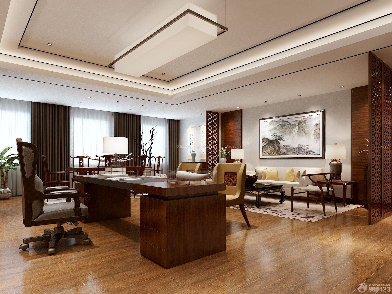 80平米老板办公室装修设计效果图_装修123效果图图片