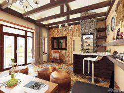 2015美式風格130平米新房背景墻設計