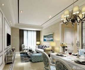 90平米三室一廳 簡歐式風格