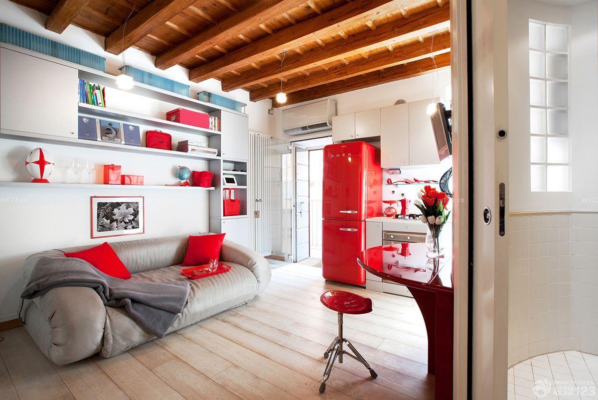 美式风格60平米小房间装修效果图图片