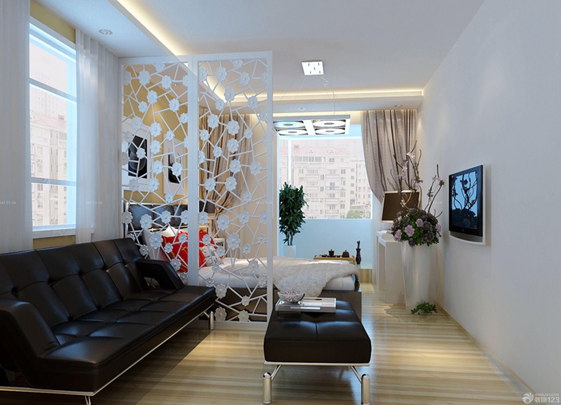70-80平方客厅卧室隔断户型装修效果图