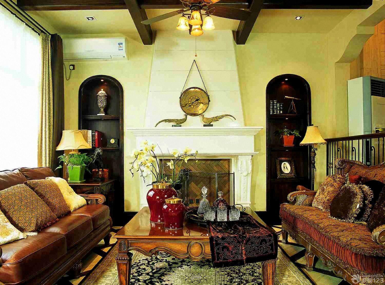 经典美式复古风格120平米房屋装修效果图