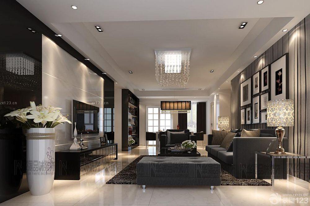 后现代风格110平米三室两厅两卫装修效果图