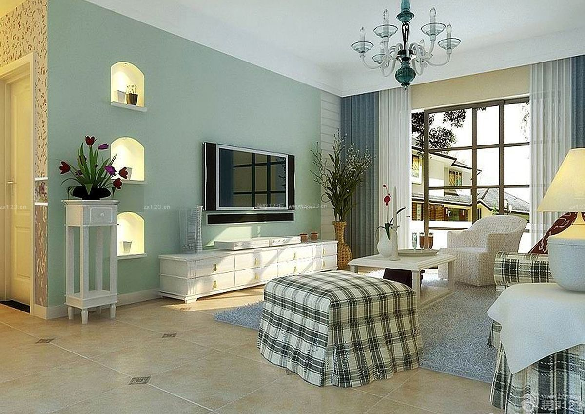 地中海风格装修120平米房屋装修效果图