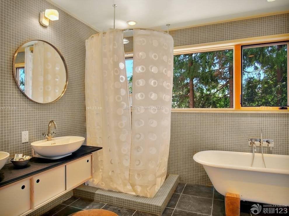 110平米家庭浴室装修效果图欣赏