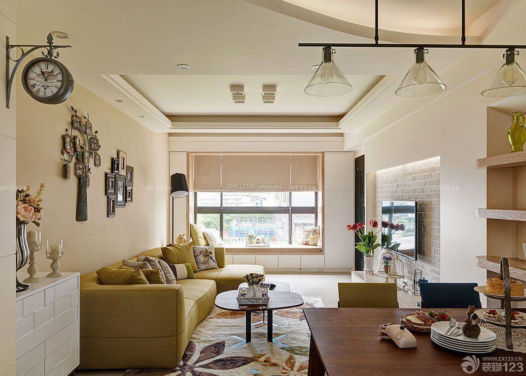 英式田园风格120平米房屋装修效果图