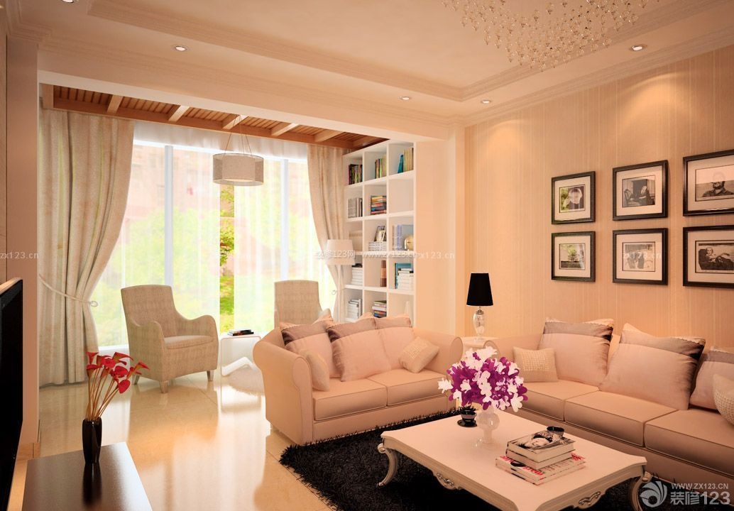70平米两房 房屋客厅装修效果图