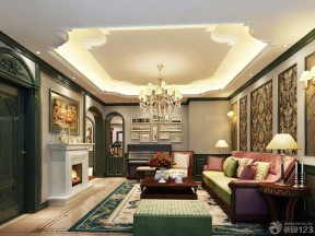 100平方米別墅圖片大全 美式家裝效果圖