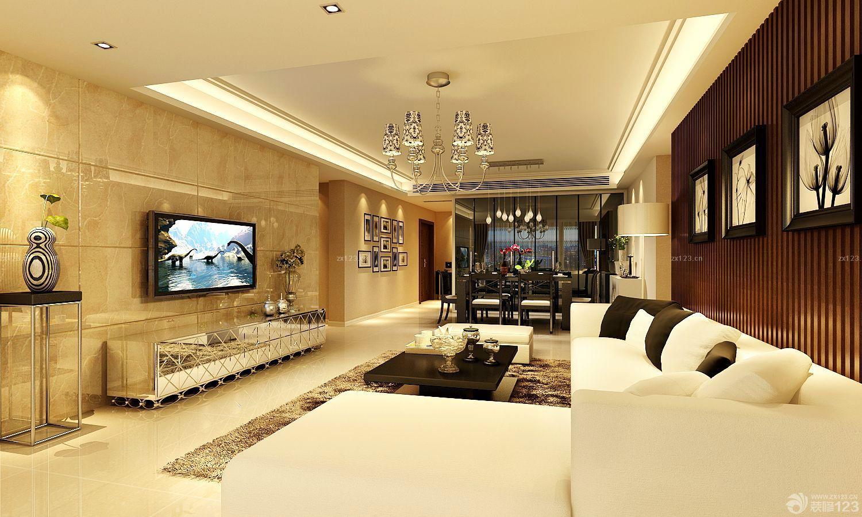 时尚混搭风格120平米房子装修设计图图片