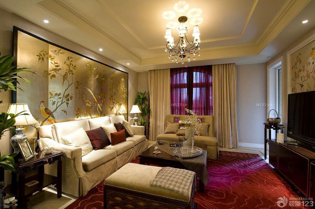 现代欧式混搭120平米的房子小客厅装修效果图图片
