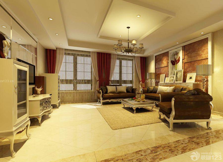 欧式家装100平方房子设计装修效果图